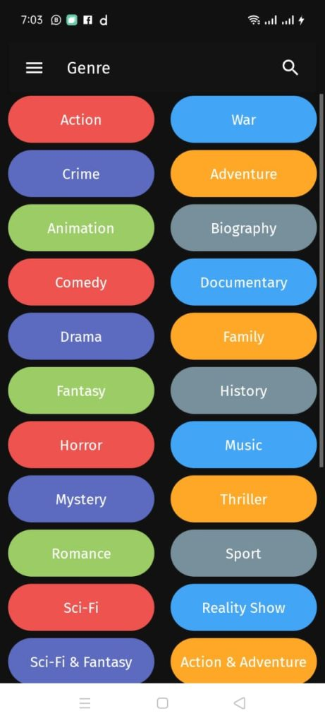 Thoptv pro genre for android